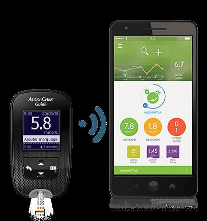Accu-Chek Guide meter and mySugr App