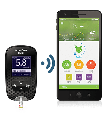 Accu-Chek Guide meter and mySugr App