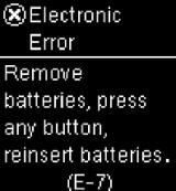 Accu-Chek Aviva Connect E7 error screen