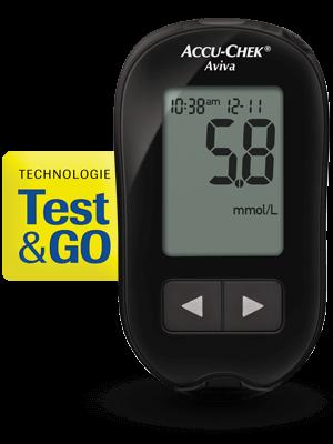 Accu-Chek Aviva avec technologie Test&GO