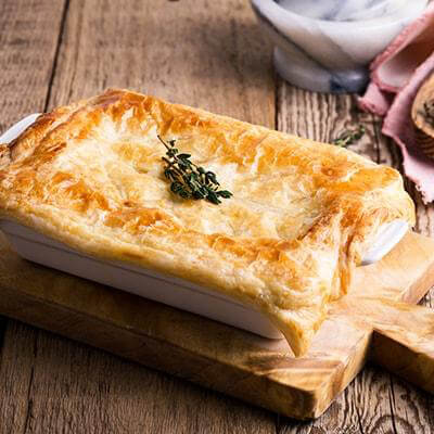 lighter chicken pie, holidays