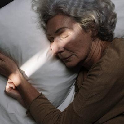 Elderly women sleeping