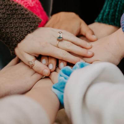 Group of women supporting each other