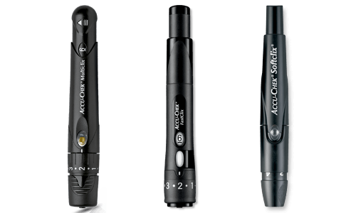 Family of Accu-Chek Lancing Devices